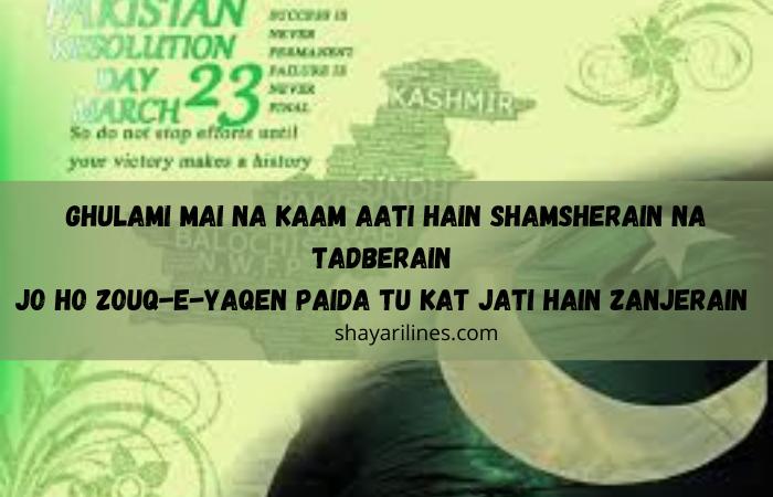 new 23 march shayri in urdu for whatsapp