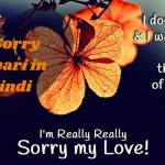 88+ I'm Sorry Shayari in Hindi 2021(Poetry for GF/BF in English)